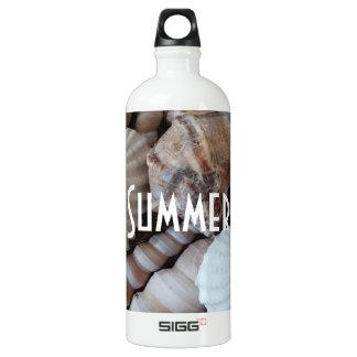 Exotische tropische Sommer-Muscheln-Fotografie Aluminiumwasserflasche
