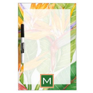 Exotischer BlumenWatercolor Memoboard