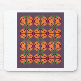 Exotischer Mandalas des Entwurfs auf Silber Mousepad
