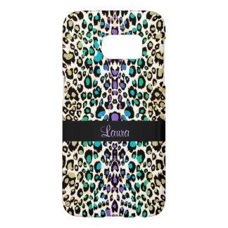 Exotischer Regenbogen-Leopard-personalisierter