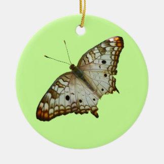 Exotischer Schmetterlings-tropische Rundes Keramik Ornament