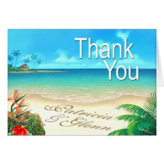 """Exotischer Strand 5,6"""" x4"""" danken Ihnen zu Karte"""