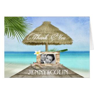 Exotischer Strand-danken kundenspezifische Mitteilungskarte