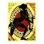 Exotischer Tänzer Postkarte