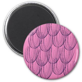 Exotisches Blätter des Entwurfs auf Rosa Runder Magnet 5,7 Cm
