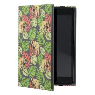 Exotisches Dschungel-Blätter und Elefanten Etui Fürs iPad Mini