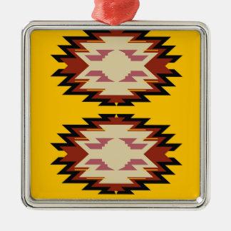 Exotisches Gold Azteken des Entwurfs Silbernes Ornament