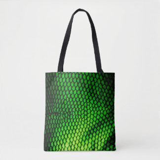 Exotisches Imitat Iquana stuft grünen Tierdruck Tasche
