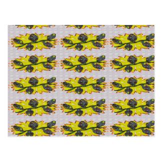 EXOTISCHES olivgrünes Smaragdgrün - Grafikdesign Postkarte