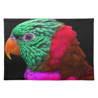 Exotisches Papageien-Grün-rotes Rosa Tischset