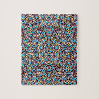 Exotisches stilisiertes Natur-Muster Puzzle