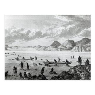 Expedition, die durch Punkt Lata auf überschreitet Postkarte