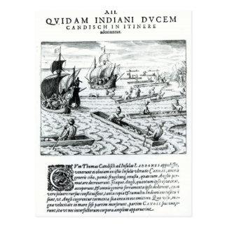 Expedition von Thomas Cavendish Postkarte