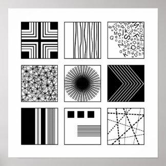 """""""Experiment"""" //schwarzes u. weißes modernes Poster"""