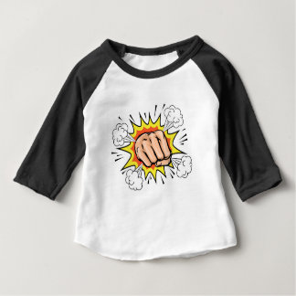 Explodierende Cartoon-Faust Baby T-shirt