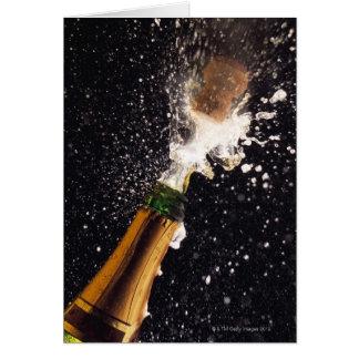 Explodierende Champagnerflasche Karte