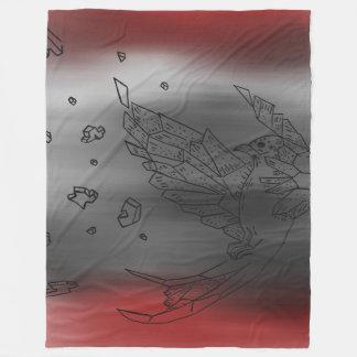 Explodierende Origami Vogel-Decke Fleecedecke