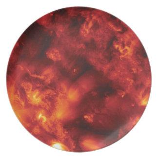 Explosion der Flamme Melaminteller