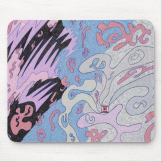 """""""Explosion im Raum"""" abstrakte Kunst Mauspads"""