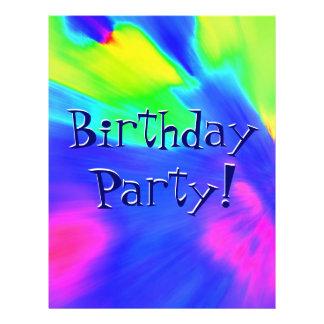 Explosions-Geburtstags-Party Bedruckte Flyer