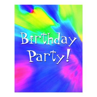 Explosions-Geburtstags-Party I Personalisierte Flyer