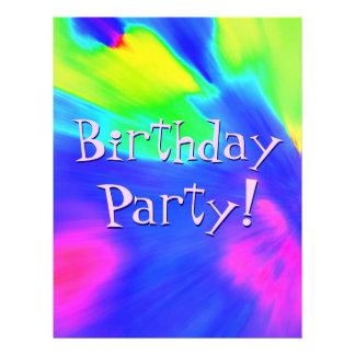 Explosions-Geburtstags-Party II Flyerdesign