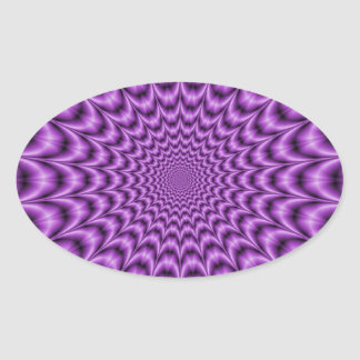Explosives Netz im lila Aufkleber