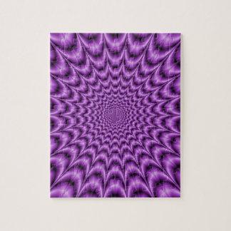 Explosives Netz im lila Puzzlespiel Puzzle