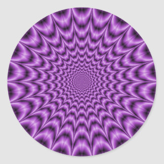 Explosives Netz im lila runden Aufkleber