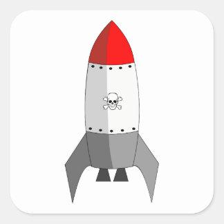 Explosives Rocket Quadratischer Aufkleber