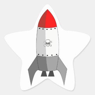 Explosives Rocket Stern-Aufkleber