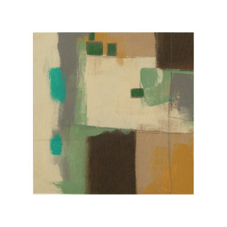 Expressionist-Malerei mit schweren Holzdruck