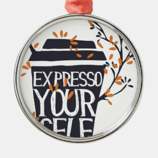 expresso Ihr Selbst Silbernes Ornament