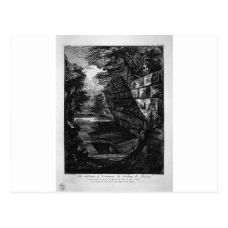 Externe Ansicht der Haustür des Grabs Postkarte