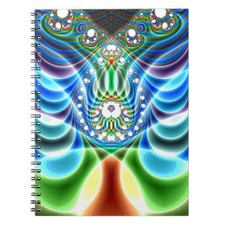 Extra-Maßnotizbuch 3 der schwingungs-V Spiral Notizblock