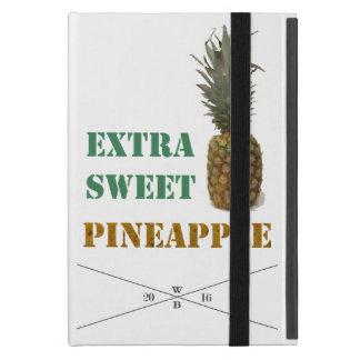 """""""Extra Sweet Pineapple""""-writing&fruit imprint Etui Fürs iPad Mini"""