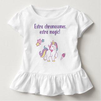 Extrachromosom-Magie-Einhorn Kleinkind T-shirt