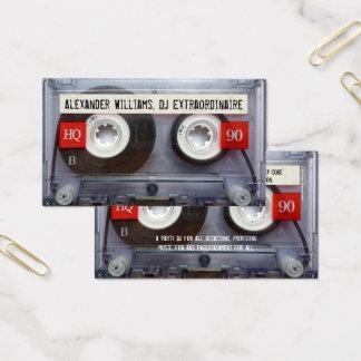 Extraordinaire Kassette DJ Visitenkarten