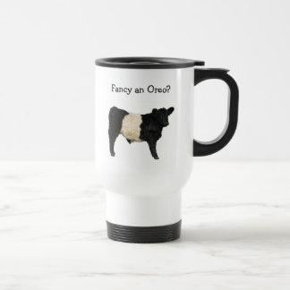 Extravagant ein Oreo? Umgeschnallte Galloway-Kuh Reisebecher