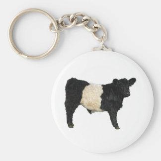 Extravagant ein Oreo? Umgeschnallte Galloway-Kuh Schlüsselanhänger
