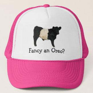 Extravagant ein Oreo? Umgeschnallte Galloway-Kuh Truckerkappe
