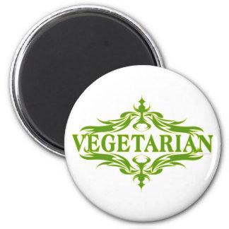 Extravagant im Grün - Vegetarier Runder Magnet 5,7 Cm