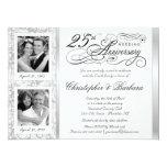 Extravagante 25. Jahrestags-Einladungen - dann u.