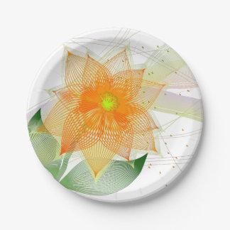 Extravagante bunte abstrakte Blume Pappteller