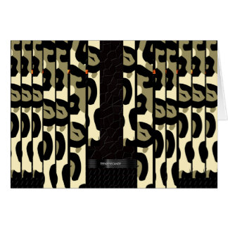 Extravagante Cheetah-Camouflage Karte