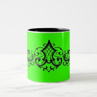 Extravagante dekorative Rolle Zweifarbige Tasse