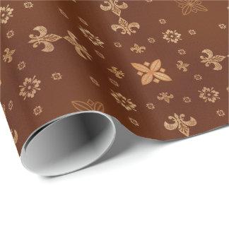 Extravagante Formen auf Brown Geschenkpapier