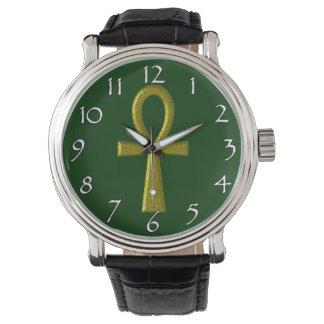 Extravagante GoldAnkh Uhren