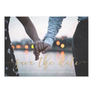 Extravagante Hochzeits-Foto-Save the Date Karte