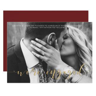 Extravagante Hochzeits-Foto-Verlobungs-Mitteilung Karte